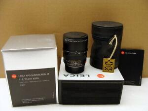 Leica-11637-Leica-Apo-Summicron-M-1-2-75mm-asph-034-Lens-mint-Boxed-034-OVP
