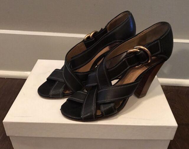 e9137cd9b2b2 Chloe Women s Black Radica Calf Heels Sz 36.5 EUR   6.5 US - MSRP  640