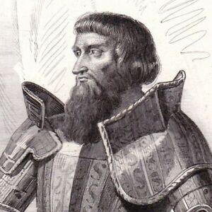 Portrait-XIXe-Jean-II-Le-Meingre-De-Boucicaut-Marechal-Bataille-Nicopolis