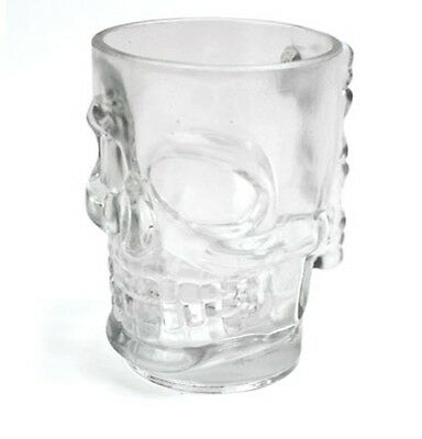 Skull Glass Beer Stein Holds a Pint.