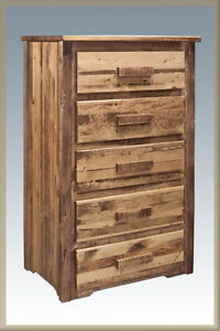 Image Is Loading Farmhouse Style 5 Drawer Dresser Amish Made Rough