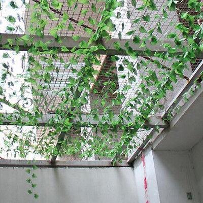 Artificial Ivy Leaf Garland Plants Vine Fake Foliage Flowers Home Decors 7.5ft