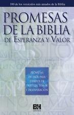 PROMESAS BFBLICAS DE ESPERANZA Y VALOR