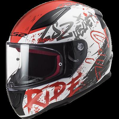 LS2 FF353 RAPID FULL FACE MOTORCYCLE MOTORBIKE HELMET NAUGHTY RED