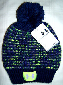 UA Under Armour Winter Knit Pom Hat Toddler Girls Small 1-3 Years ... 13cc3138728