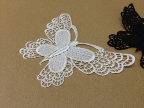 4 x Vintage Large White//Black Lace Motifs Appliques Patches DIY Dress Making
