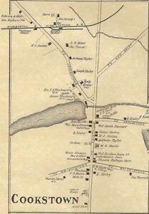 Details about Cookstown Jacobstown Wrightstown Fort Dix NJ 1876 Maps on