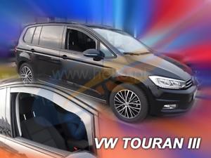 VW TOURAN 3 III 5-portes 2015-Onwards 2-pc HEKO Tinted Vent Déflecteurs