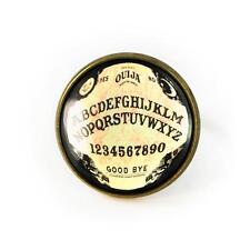Traditional Ouija Spirit Board Antique Bronze Glass Occult Haunted Horror Ring