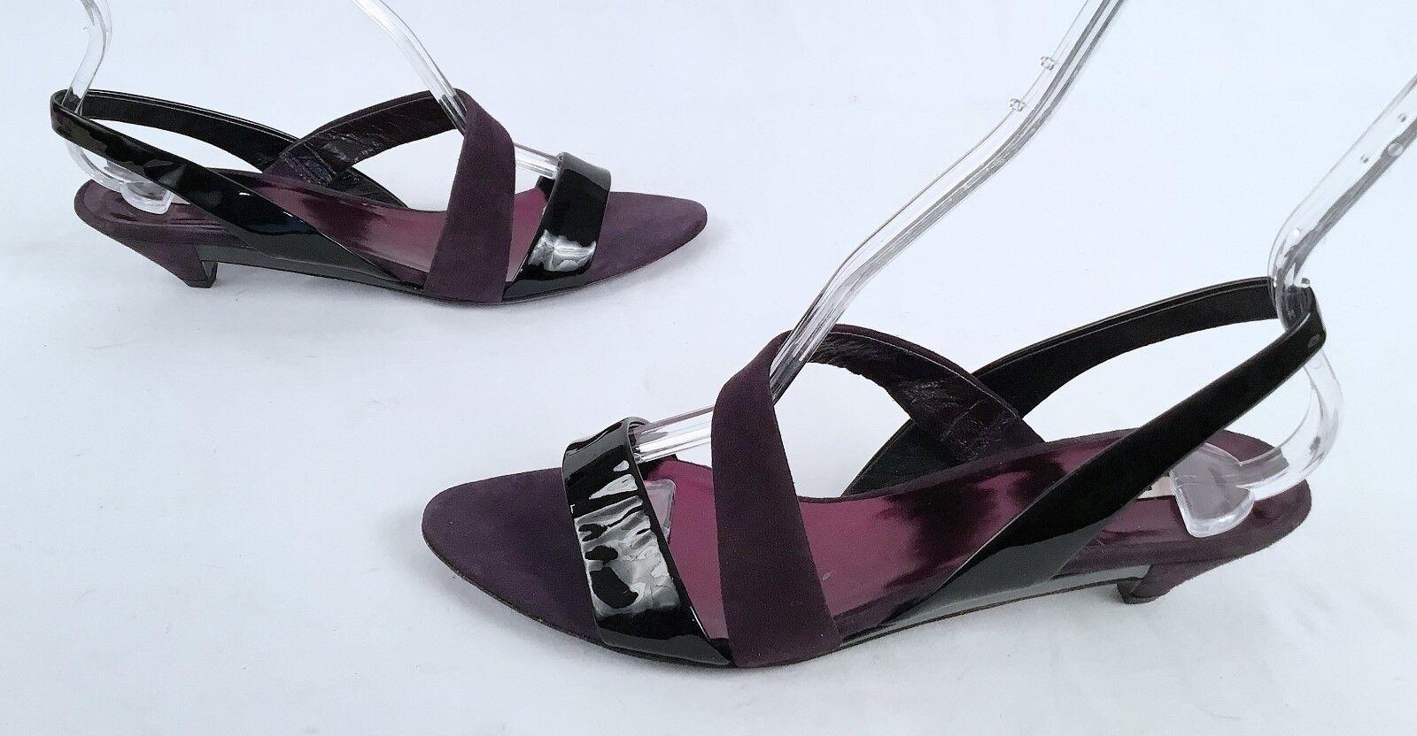 senza esitazione! acquista ora! New     MIU MIU Patent Leather Suede Strappy Sandals Dimensione 7.5  675-(P31)  consegna rapida