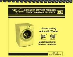 Whirlpool duet front load washer manual