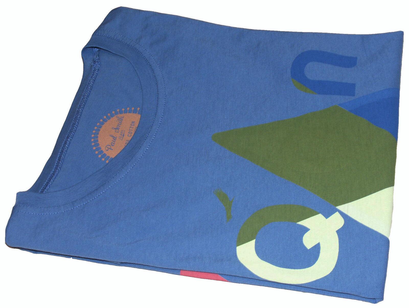 Paul Smith leggero PERUVIANO Pima Cotone T-shirt   Top Bnwt sz-m o S RARE