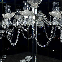 1 YARD CLEAR CHANDELIER LAMP CRYSTAL PRISM GLASS BEAD CHAIN XMAS WEDDING GARLAND