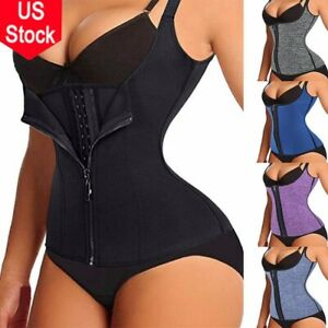 US Fajas Colombianas Reductoras Shapewear Waist Trainer Cincher Women Bodysuit