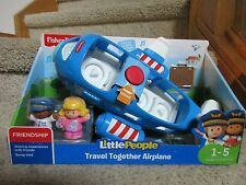 Little People Travel Together Airplane Blue L