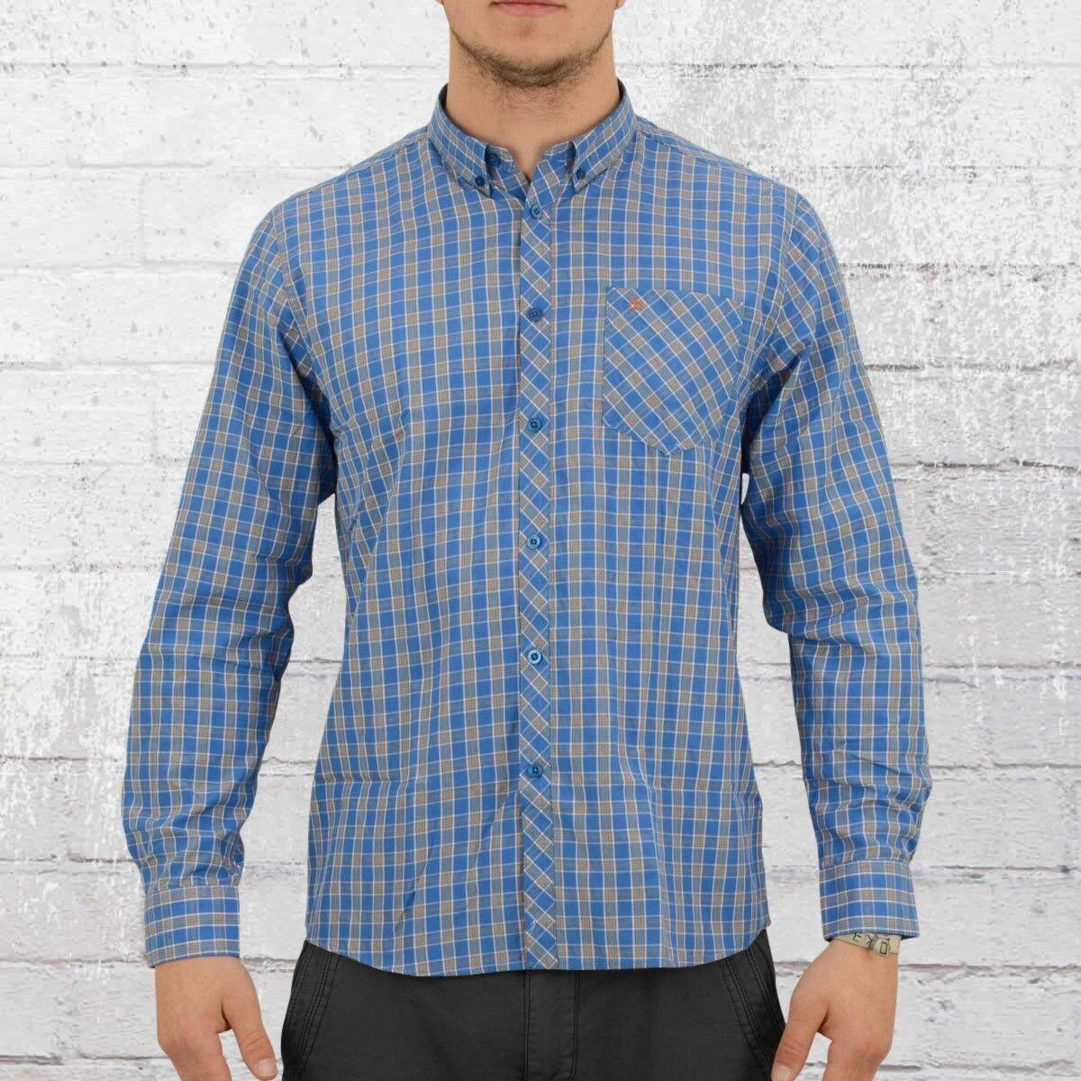 Merc manica lunga uomo Button-down a quadri Camicia Gorse blu a quadri uomini CHECK SHIRT