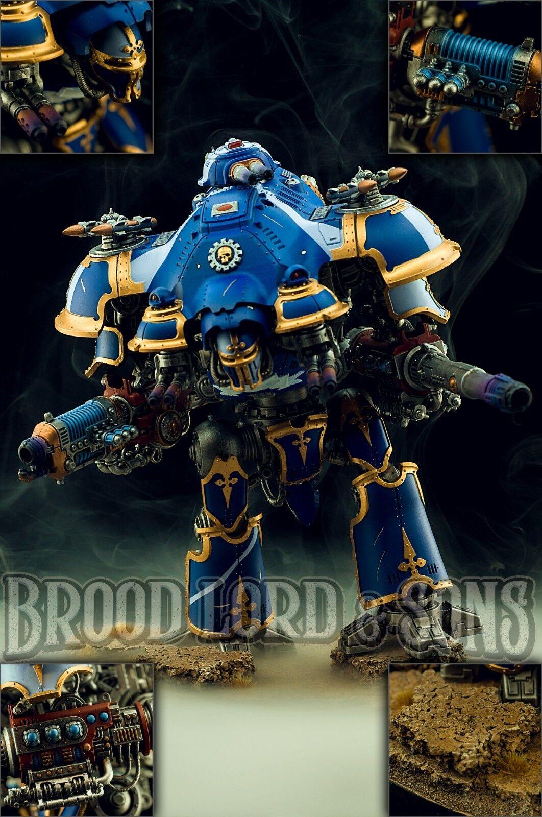 Imperial Caballero Castellan \ valiente completamente magnetizada-Pintado Comisión wh40k