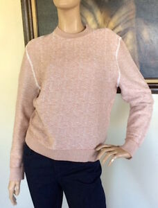 UNIQLO UUU LEMAIRE WOMEN BROWN COTTON CREWNECK SWEATER NWT SIZE L ...
