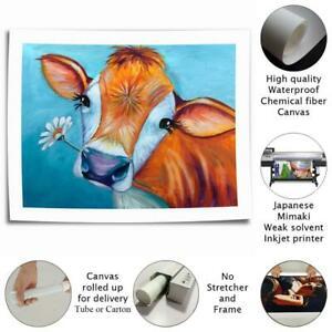 Happy Cow Hd Canvas Printed Home Decor Paintings Room Wall Art Pictures Poster Ebay