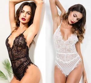 finest selection c9ab4 22edd Details zu Sexy Damen Bodysuit Dessous Reizwäsche Spitze Unterwäsche  Nachtwäsche 3873