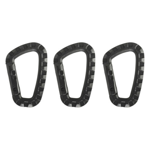 3pcs Strong Hard Plastic Tactical Army Carabiner Clip Backpack Hanging Hook