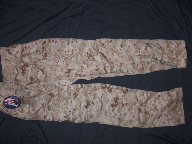 USMC MARPAT FROG TROUSERS MEDIUM-REGULAR nwt USA MILITARY MCU DESERT CAMO PANTS