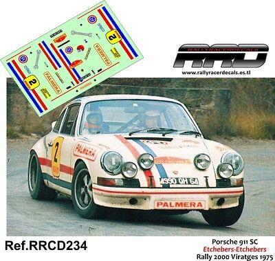 Decal/calca 1/43;porsche 911; Etchebers-etchebers; Rally 2000 Viratges 1975 Gli Ordini Sono Benvenuti