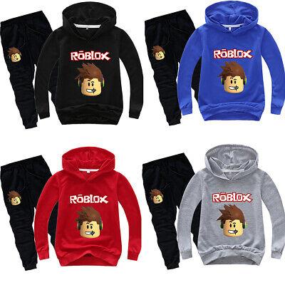 Boys Girls Kids Roblox Hoodie Sweatshirt Pullover Pants Cartoon