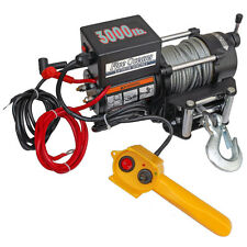 ELECTRIC TRAILER RECOVERY WINCH – ATV/BOAT/TRUCK/CAR – 3000 lb 12V- FIVE OCEANS