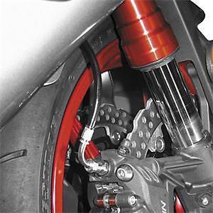 KAWASAKI 2005-2006 ZX6R 636RR GALFER REAR STAINLESS STEEL BRAIDED BRAKE LINE KIT