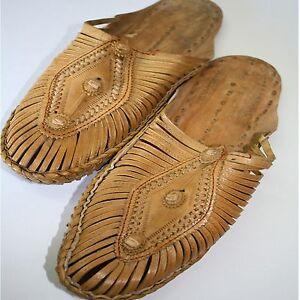 Scarpe Sandali Pelle Naturale Taglia 37 42 India Ges Clogs imbottite Hippie Slipper