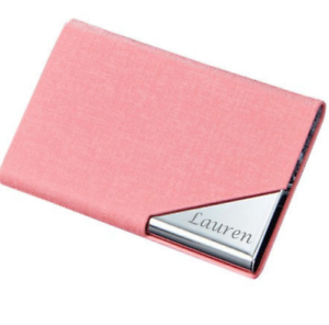 Personalized Leatherette Business Card Case Free Engraving