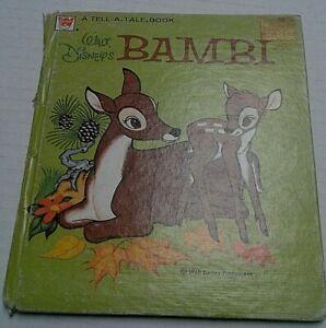Walt disney collectible Bambi 1972 Whitman Book