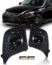 For 2014-2016 Lexus IS250 IS350 F-Sport Clear Fog Lights Full Kit Switch+Harness