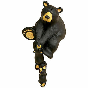 Big Sky Carvers Bearfoots Bears Helping Paw Figurine Black Bear with Cubs