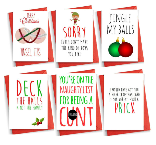 Funny Rude Christmas Card Cheeky Cards Witty Humour Banter Brother Friend Best