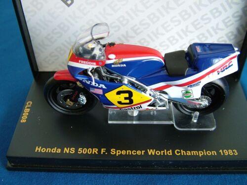 IXO CLB008 échelle 1:24 HONDA NS 500R-FREDDIE SPENCER Champion du Monde vélo 1983