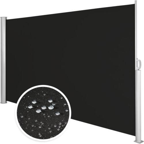 Auvent store latéral brise-vue abri soleil aluminium rétractable noir