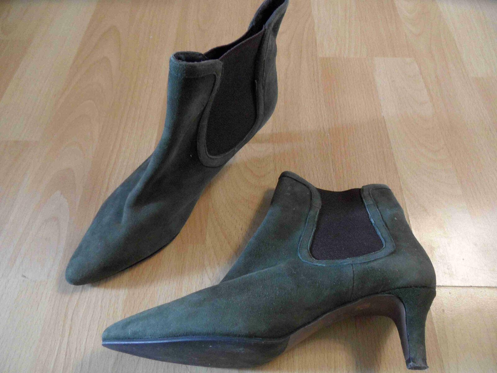 BRUNO PREMI tolle Ankle Stiefel Stiefeletten Wildleder khaki Gr. 36 TOP ZC616