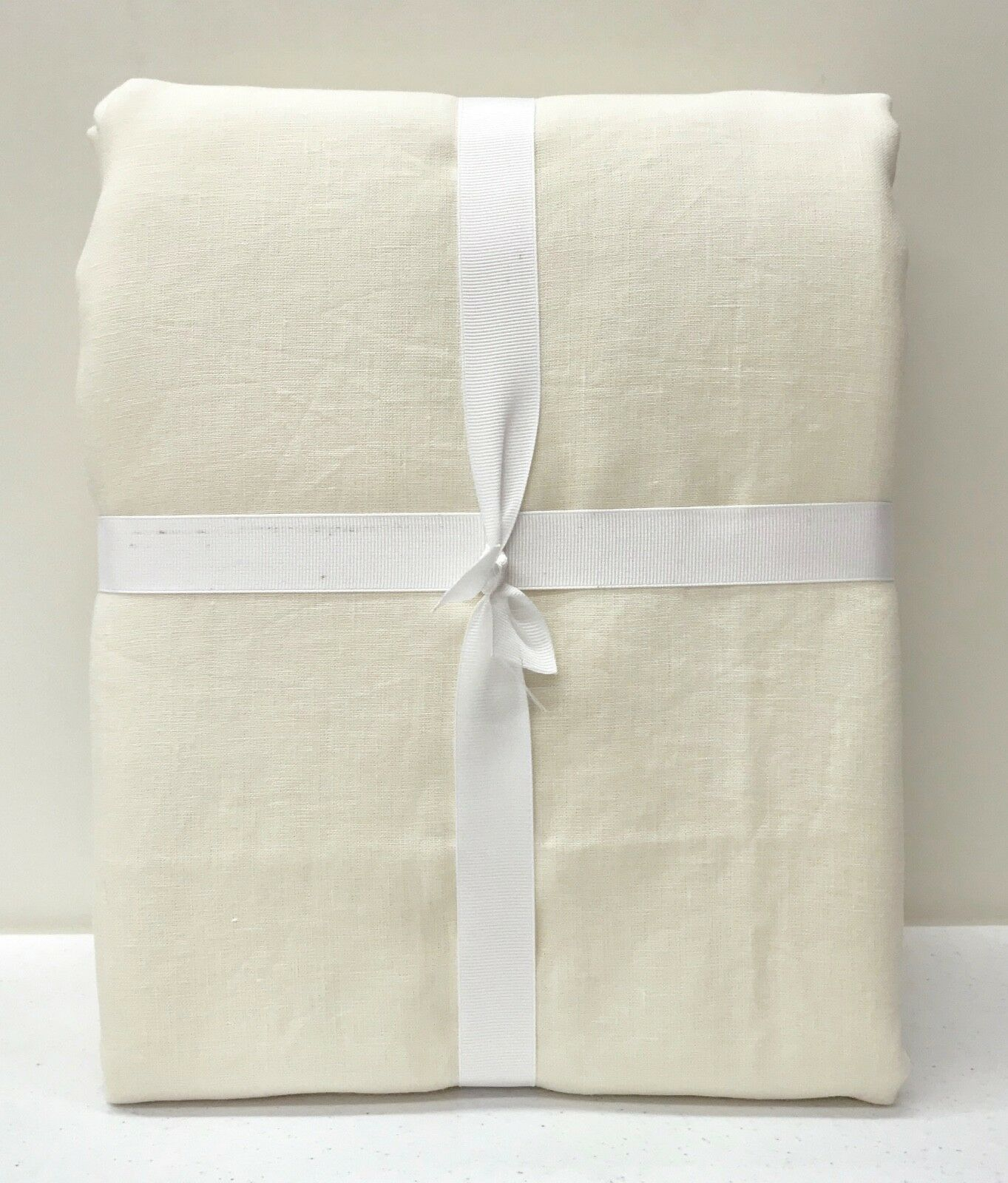 NEW Williams Sonoma Signature Linen KING Duvet CoverIVORYBelgian Flax Linen