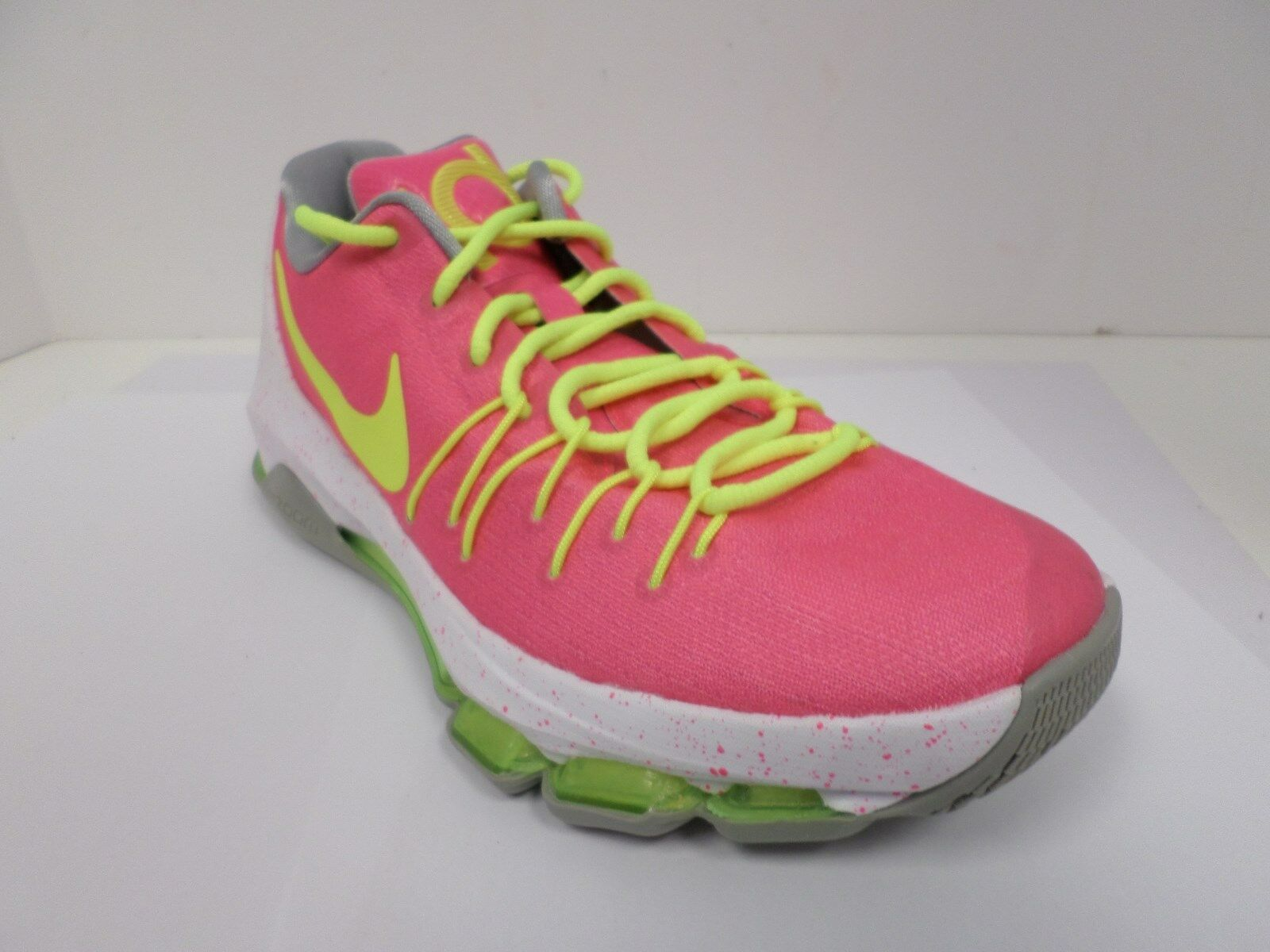 New Nike Women's iD KD Athletic Shoes Pink/Volt/White/Gray 828368-901 ***
