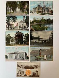 Lot-9-Vintage-NY-New-York-Postcards-Scenic-State-Hospital-School-Hotel-Masonic