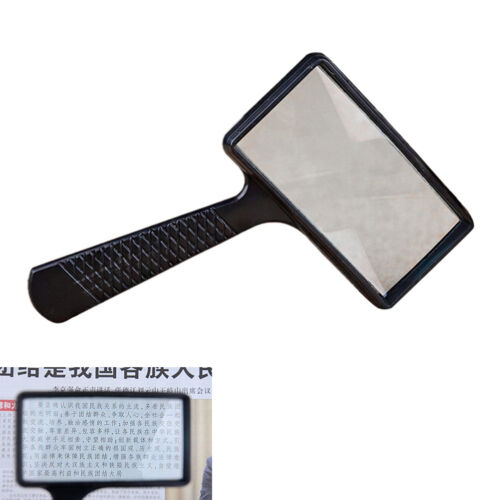 Magnifying Real Glass10X Magnifier Handheld Rectangular Read Coin Stamp Large SA
