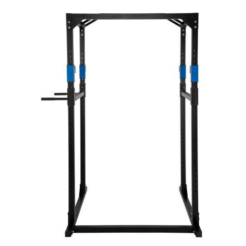 Kraftstation Fitnessstation Power Rack Power Cage Klimm Dip robust blau-schwarz