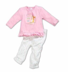 Schlafanzug-Baby-Pyjama-Baumwolle-Nachtwaesche-Hase-Kleinkinder-Set-Rosa-Oko-Tex