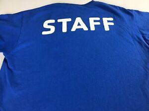 YMCA-Staff-T-Shirt-Adult-SZ-M-L-The-Y-Club-Blue-White-Mens-Womens-Cotton-Tee