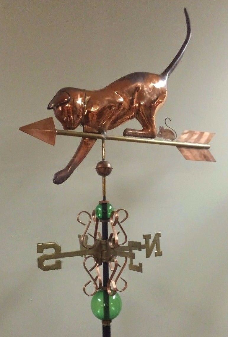 Cat and mice copper and brass,Beautiful full size weathervane,sold as shown