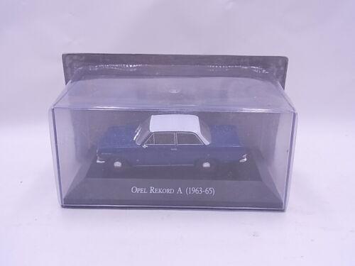 69785 Atlas Modellauto Opel Rekord A 1963-65 blau//weiß Die-Cast 1:43 NEU in OVP