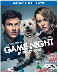 Game Night (Blu-Ray/DVD/Digital, 2018, Canadian, FRENCH & SPANISH INCL.)