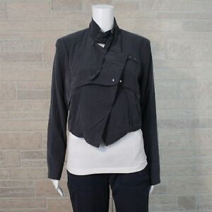 Coyote-Cowboy-Adventure-Jacket-Misses-SMALL-Slate-Gray-Moto-Open-Front